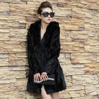 Free shipping 2014 new long coat faux fur vest rabbit fur hooded vest women's fur coats long sections