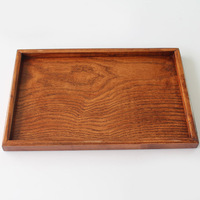 Chinese style tea set wood pallet Medium rectangle wood plate 30 20 2cm wooden tea tray saucer