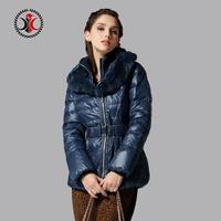 2014 thickening fashionable casual fur collar short down coat female design
