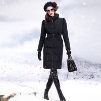 2014 autumn and winter  outerwear fashion down coat female slim medium-long