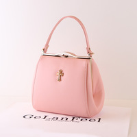2014 women's handbag candy color bag clip portable one shoulder cross-body bag small the trend of fashion women's bags