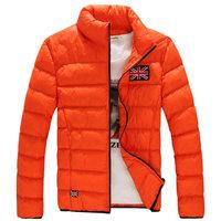 New arrival hot men winter jacket coat casual slim parka for men M--5XL  4 colors