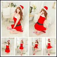 Cosplay red christmas installation christmas clothes Christmas ds party clothes