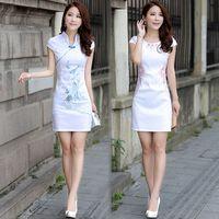 2014 summer female cheongsam dress fashion vintage slim short design sexy cheongsam one-piece dress