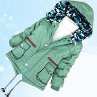 child wadded jacket children's clothing winter child 2014 outerwear child wadded jacket cotton-padded jacket