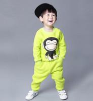Children's clothing 2014 child set sweatshirt sportswear male female child baby clothes