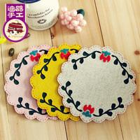 Handmade diy cloth material kit jottings 3pcs heat pads diy non woven fabric mats pads