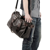 Man cross-body shoulder bag handbag male fashion casual laptop leather computer wrapping bags travel Bag