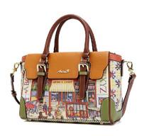 free shipping new vintage oil painting handbag  shoulder bag tote design  cross-body women's handbag messenger bag England woman