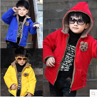 Winter thickening baby cotton-padded jacket outerwear child cotton-padded jacket wadded jacket boy clothing stereo wadded hoody