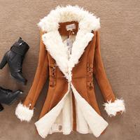 NEW Winter Women Woolen Overcoat Outerwear Slim Long Fleece Coat Women Jackets