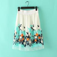 Free shipping 2014 New Skirts Organza Embroidery Fashion Tutu