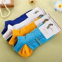 2014 thin male sock slippers anti-odor sports sock preppy style 100% cotton socks