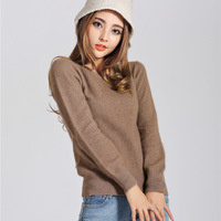 2014 autumn and winter fashion mink cashmere sweater women's thermal mink sweater o-neck slim marten velvet sweater pullover