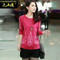 Autumn women's sweater pullover o-neck long-sleeve sweater loose women's basic shirt thin