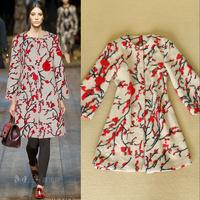 Fashion 2014 ruslana korshunova women's elegant color block loose woolen outerwear plus size female overcoat