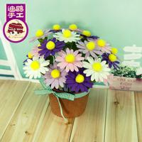 DIY artificial flower daisy handmade fabric material diy bonsai bountyless artificial flowers
