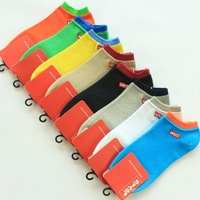 Free shipping 100% cotton candy color ship socks in summer High quality eight kinds of color couples socks