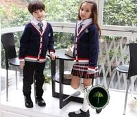 Fashion preppystyle kindergarten park service long-sleeve sweater elementary student school uniform choral service