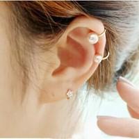 E2229 sweet delicate pearl clip no pierced earrings in ear jewelry accessories female