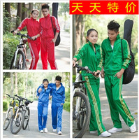 2014 summer male casual set women's sportswear long-sleeve lovers sports