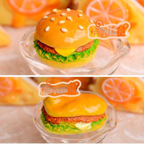 dollhouse furniture accessories rustic chicken hamburger model(China (Mainland))