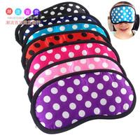 5 Pcs! Satin Eyeshade Travel Sleeping Blinder Fashion Eye Mask Blindages Big Dot Goggles