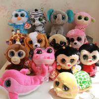 Ty big eyes colorful small unicorn plush toy doll gift chritsmas gift