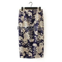Free shipping 2014 Women's new Wild printing Slim Skirts Skirt