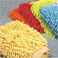 Clean cloth fiber chenille glove cloth/it will take free shipping