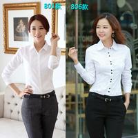 2014 White shirt women's long-sleeve autumn and winter women blouse long-sleeve wear formal work wear outfit OL tooling shirt