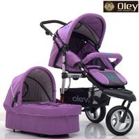 Oley V3 Super Shock Absorption Baby Stroller,All Pneumatic  Wheel,with Sleep basket