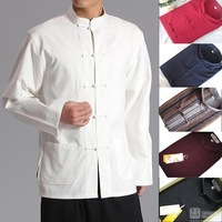 Quinquagenarian cotton tai chi clothes male tang suit hanfu householders long-sleeve jacket Large Size