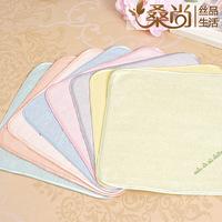 100% Silk towel small square facecloth handkerchief  baby washcloth soft Healthy 25*25cm 3pcs