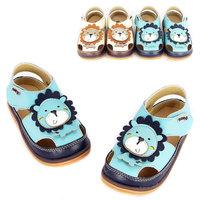 BIG SALE 2014 baby boy sandals lion cartoon child leather sandals  infant boy summer shoes kid boy footwear Educating baby