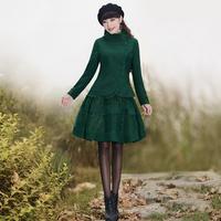 [LYNETTE'S CHINOISERIE - YHT ] Autumn Original Design Women Plus Size Vintage Elegant Slim Twinset Dress Sz S M L XL XXL XXXL