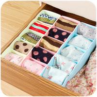 Colorful drawer small plastic finishing box five grid panties socks storage box