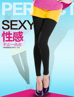 Rompers silk legging female stockings black pantyhose stockings plus velvet pants autumn and winter gift