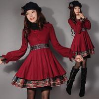 [LYNETTE'S CHINOISERIE - YHT ] Autumn Original Design Women Plus Size Slim Vintage Woolen Skirt Overcoat Sz S M L XL XXL XXXL