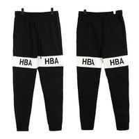 brief Black and white stripe hba men's loose pants plus velvet trousers sports pants