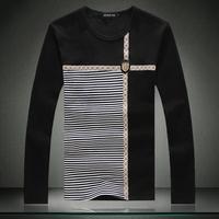 Hot-selling 2014 men tee shirt autumn mans long-sleeved T-shirt napapijri,plus size M-5XL 6XL BLACK GRAY #016