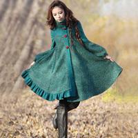 [LYNETTE'S CHINOISERIE - YHT ] Winter Original Design Women Plus Size Cute Loose Woolen Overcoat Outerwear Sz S M L XL XXL XXXL