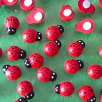 New hot ( 10 pieces/lot) Mini cartoon ladybug beetle micro landscape decoration dedicated mini potted decorative Accessories