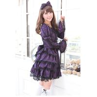 Glp long-sleeve dress elegant slim lace one-piece dress 81143