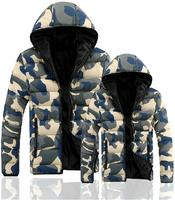 Best selling autumn winter hot camouflage men winter jacket coat casual slim parka for men lovers outwear