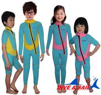 full Body Swimwear Boys & Girls Unisex Lycra Wetsuit Children Rash Guard Diving Snorkeling Suit for Water Sport for children