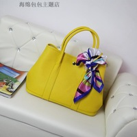 2014 new arrival fashion genuine leather cowhide litchi women's handbag portable document big bags