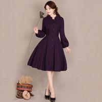 [LYNETTE'S CHINOISERIE - YHT ] Autumn Women Plus Size Vintage Elegant Noble Purple Slim Outerwear Overcoat Sz S M L XL XXL XXXL