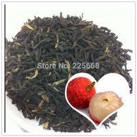 2014yr Grade AAAAA 200g Lichee Black Tea Lychee Congou Losing Weight Fruit Red Tea Free Shipping