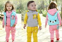 Children's clothing male female child 0- 4 2014 autumn clothes piece set baby child set